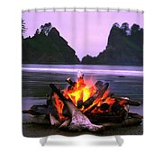 Bonfire On The Beach, Point Of The Shower Curtain