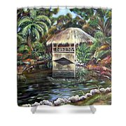Bonnet House Chickee Shower Curtain