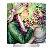 Bonnet Of Flowers Shower Curtain