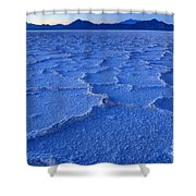 Bonneville Salt Flats At Dusk Shower Curtain