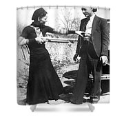 Bonnie And Clyde, 1933 Shower Curtain