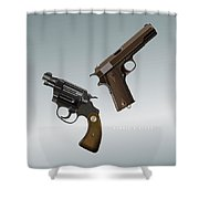 Bonnie And Clyde - Alternative Movie Poster Shower Curtain