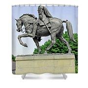 Bonnie Prince Charlie Statue - Derby Shower Curtain