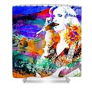 Bonnie Raitt Color Splash Shower Curtain