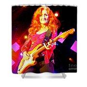 Bonnie Raitt In Concert Watercolor Shower Curtain