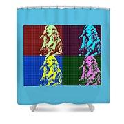 Bonnie Raitt Pop Art Poster Shower Curtain