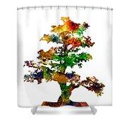 Bonsai Shower Curtain by Michael Colgate
