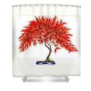 Bonsai Tree - Inaba Shidare Shower Curtain