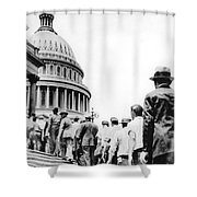Bonus Army Marchers, 1932 Shower Curtain