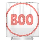 Boo Rubber Stamp Shower Curtain