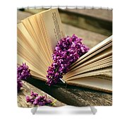 Book And Flower Shower Curtain