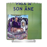 Book Cover Paix A Son Ane Shower Curtain