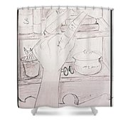 Book In Hand  Shower Curtain
