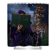 Book Of Magic Spells Shower Curtain
