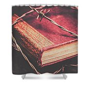 Book Of Secrets, High Security Shower Curtain