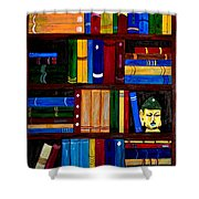 Bookcase Shower Curtain