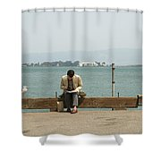 Bookends Shower Curtain