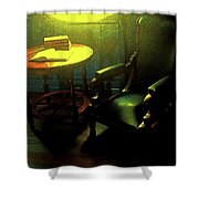 Books Tabel And Chair Shower Curtain