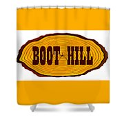 Boot Hill Log Sign Shower Curtain