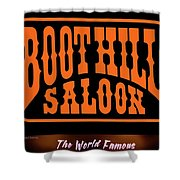 Boot Hill Saloon Sign Shower Curtain