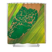 Boot Top In A See Of Grass Shower Curtain