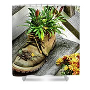 Booted Plant Shower Curtain