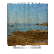 Boothbay Calm Day Ocean View Shower Curtain