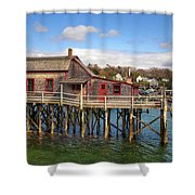 Boothbay Harbor 02287 Shower Curtain