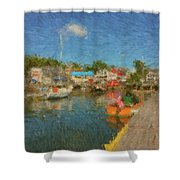 Boothbay Harbor At 5 Shower Curtain