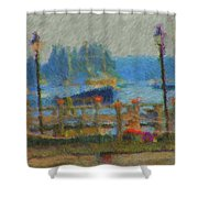 Boothbay Harbor At 8 Shower Curtain
