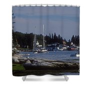Boothbay Harbor In Maine Shower Curtain