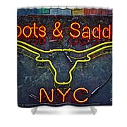 Boots And Saddle Nyc Shower Curtain