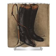 Boots And Whip Shower Curtain