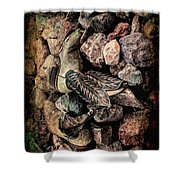 Boots Shower Curtain by Michael Hope