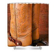 Boots With Spurs Shower Curtain