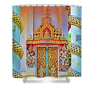Bophut Temple In Thailand Shower Curtain