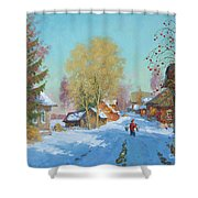 Bor Village Shower Curtain