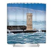 Bora  Senj, Croatia Shower Curtain