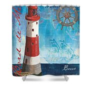 Bord De Mer Shower Curtain by Debbie DeWitt