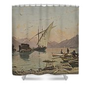 Bord Du Lac A Rivaz Shower Curtain