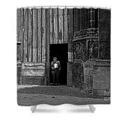 Bordeaux Church Door Shower Curtain