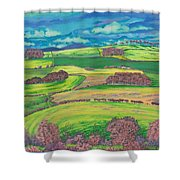 Border Country Shower Curtain