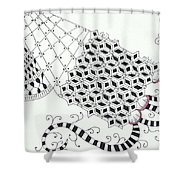 Bordered Shower Curtain