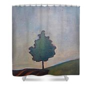 Bordering Tree Shower Curtain
