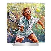 Boris Becker Shower Curtain