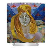 Born-after Mucha Shower Curtain