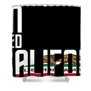 Born And Raised In California Birthday Gift Nice Design Shower Curtain
