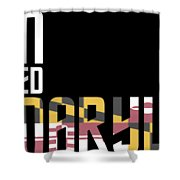 Born And Raised In Maryland Birthday Gift Nice Design Shower Curtain