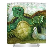 Born For Crawling Will Not Fly Shower Curtain