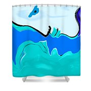 Born Of The Ocean Shower Curtain